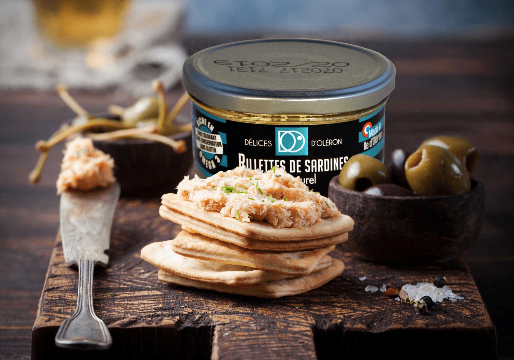rillettes de sardines - Délices d'Oléron