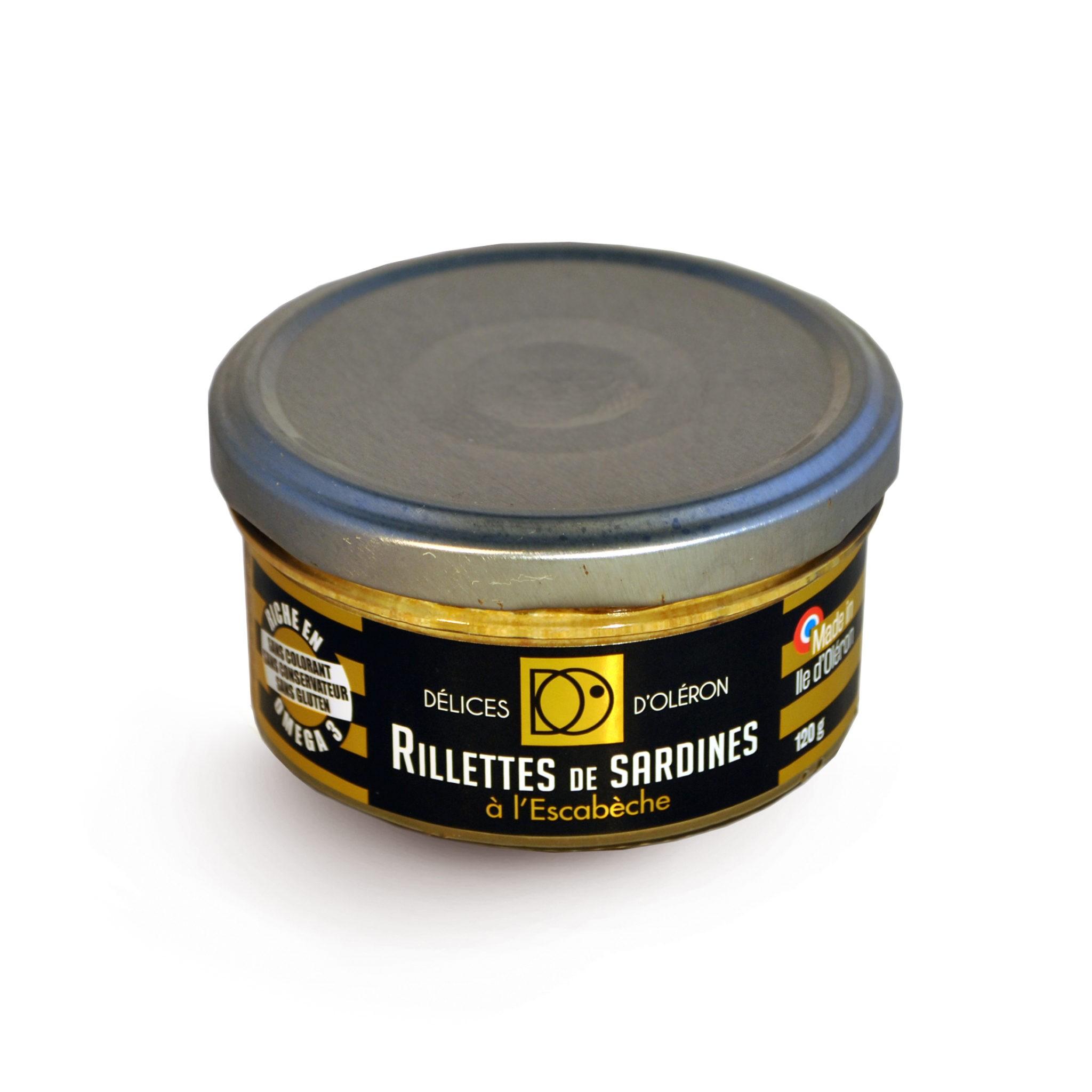rillettes de sardinesà l'escabèche délices d'oléron